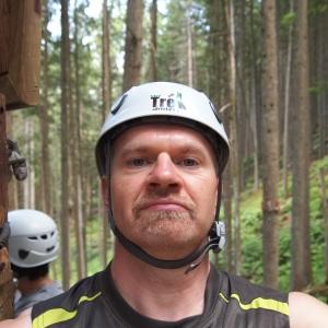 A selfie at Sky Trek, BC.