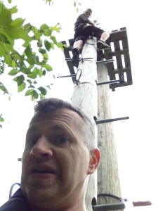 My birthday present: Zip lining at Arbre Adventure, Eastman Quebec
