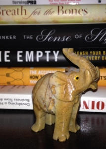 An unnecessary elephant, sitting on a shelf full of giants