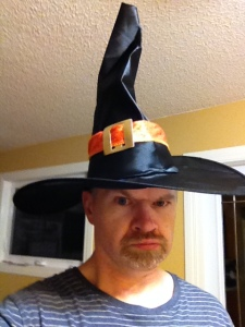 This is me, high on Halloween candy.