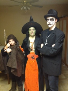 My family, High on Halloween Candy