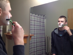 My Sons First Shave