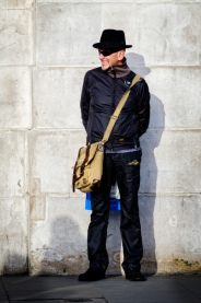 With a man bag by a wall_Garry Knight