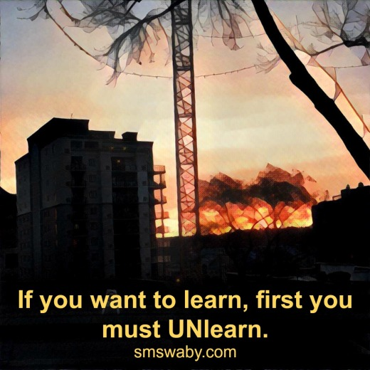 if-you-want-to-learn-first-you-must-unlearn