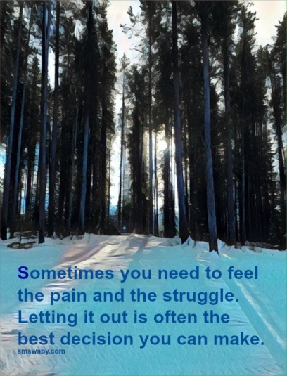 feeling-the-pain-is-the-only-way-to-heal_poster