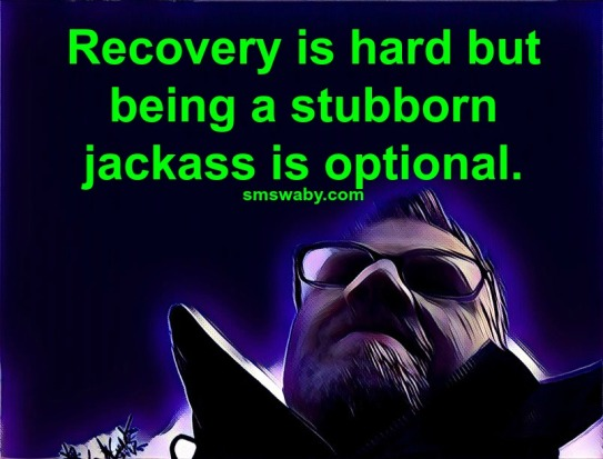 recovery-is-hard-but-being-a-stubborn-jackass-is-optional_poster